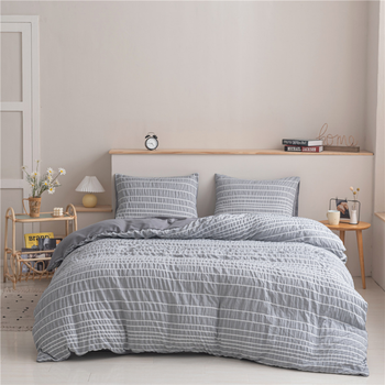 High Quality Pure Color Bed Cover Set