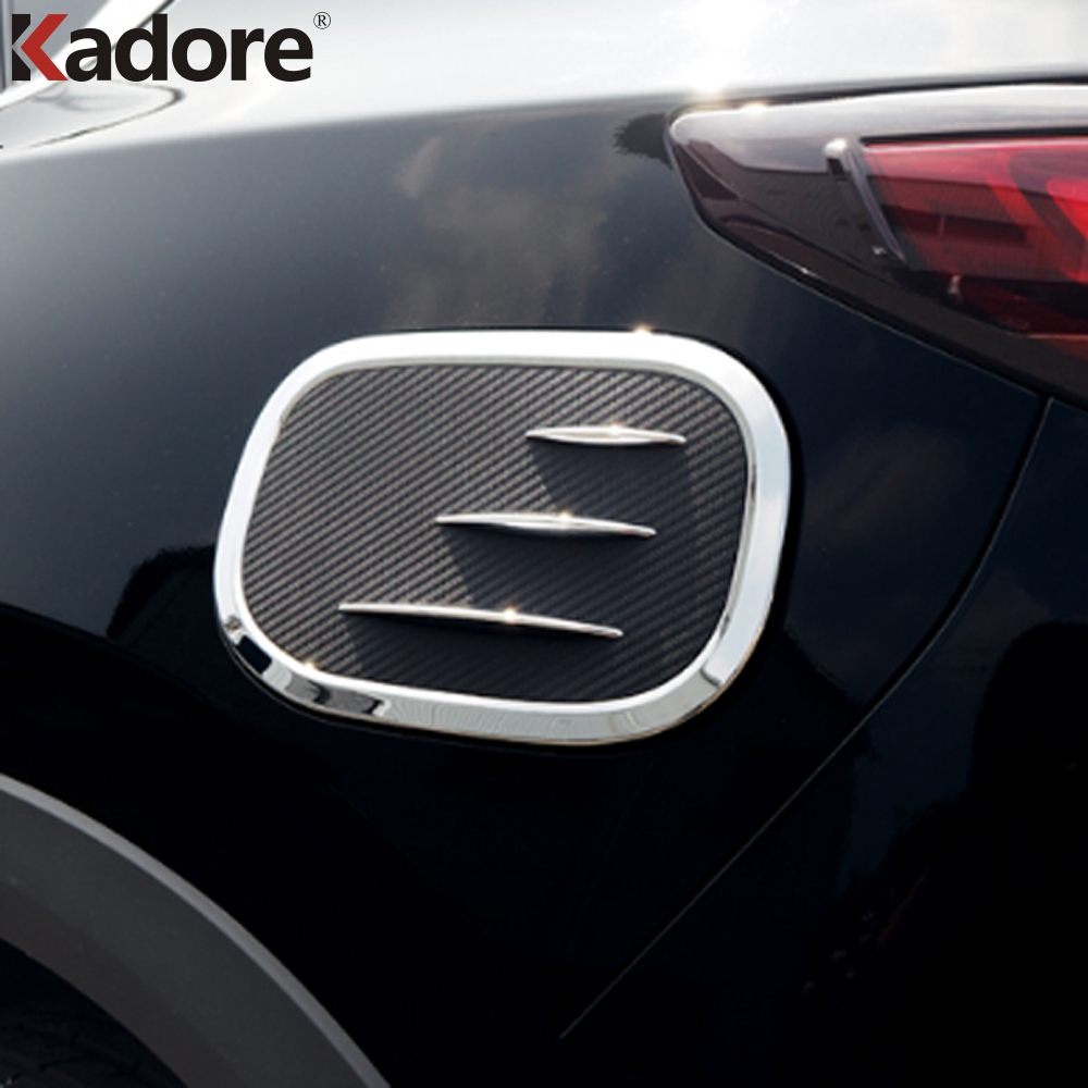 For <font><b>Mazda</b></font> <font><b>CX5</b></font> CX-5 2017 2018 <font><b>2019</b></font> 2020 ABS Chrome Fuel Tank Cover Oil Filler Cap Tank Gas Cover Trim Decoration Auto <font><b>Accessories</b></font> image