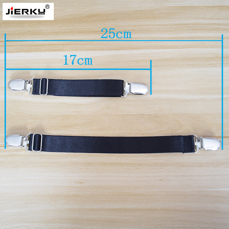 Bedsheet Anti-Slip Retaining Clip Elastic Adjustable Bedspread Retaining Clip I-Shaped Bedsheet Clamp Black