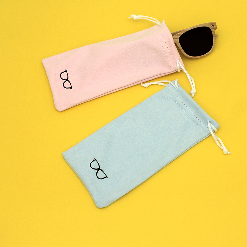 Simple Mini Drawstring Bag Portable Eyewear Bag Girls Phone Pocket Casual Small Things Organizer Pouch Korean Style Storage Bag