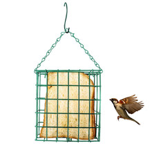 Bird Breading Cage Square Cube Sebum Feeder Food Parrot Dispenser Tree Hanging Iron Wire Outdoor Vegetable Holder Pet Supplies