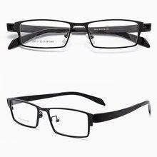 Reven Jate מלא שפת סגסוגת חישוק קדמי גמיש פלסטיק TR 90 רגליים מקדש משקפיים אופטיים מסגרת עבור גברים ונשים Eyewear d812