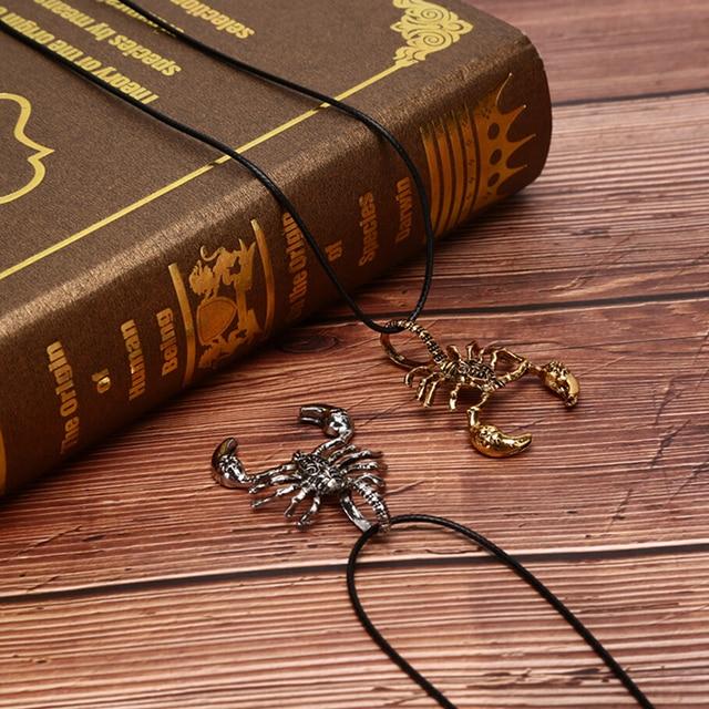 Men Necklaces Scorpion King Clavicle Chain Choker Jewelry Pendant Necklaces Ornaments Torque Pendientes Dropshipping