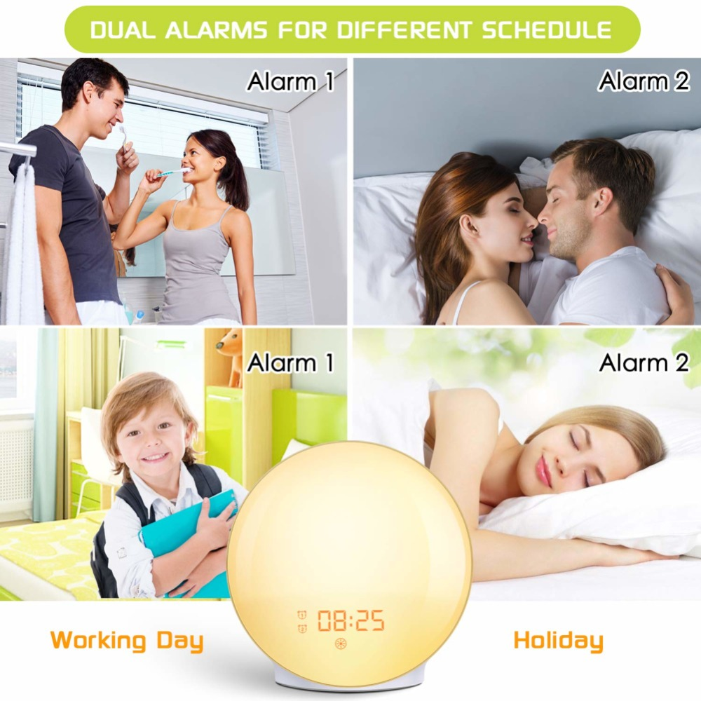 WIFI-smart-voice-control-alarm-clock-wake-digital-snooze-nature-night-light-clock-work-with-Alexa (3)