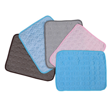 Newest Pet Cooling Mat Pad for Dogs Cat Ice Silks Mat Cooling Blanket Cushion for Kennel Sofa Bed Floor Car Seats image