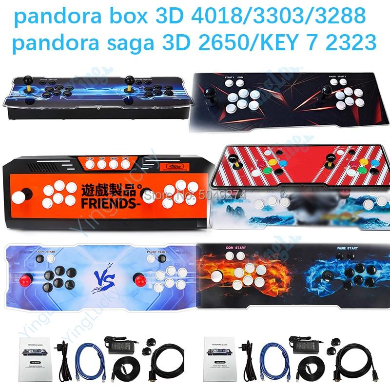 Pandora box, 3D, pandora key 7, nouvelle version 4018, 4188/3333/3288/3303 / DX 3000, plateau avec wifi