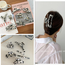 Claws Hairpins Hair-Accessories Crab Acetate Geometric Acrylic Large-Hair Girls Vintage