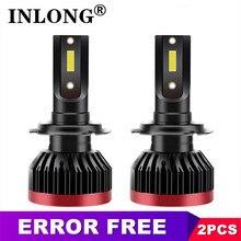 2x H7 LED Error Free Canbus H11 H4 Hi/Lo H1 H8 H9 HB3 HB4 9006 9005 Car Headlight Bulbs 5500K 6000K CSP 12000LM Auto Fog Lights new generation all in one high beam error free 9005 hid lights for madza 3