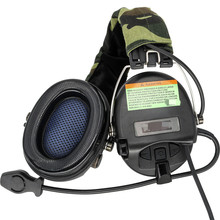 TCIHEADSET Tactical Electronics MSASORDIN Shooting Earmuffs Hunting Noise Reduction Pickup Airsoft Military Tactical Headset  BK