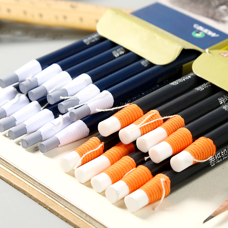 Maries 5MM/7MM Pen Stlye Eraser Modification Details Highlight Pencil Eraser For Design Drawings Cartoon Beginner Art Supplies