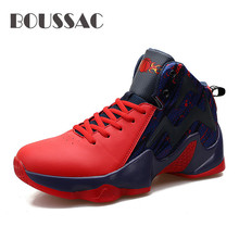 BOUSSAC New Arrival Outdoor High Top Basketball Shoes For Men Breathable Comfort Athletic Sport Shoes Male Trainers boussac basketball shoes for men 2018 new high top sport comfort air cushion sneakers trainers basket homme zapatillas red