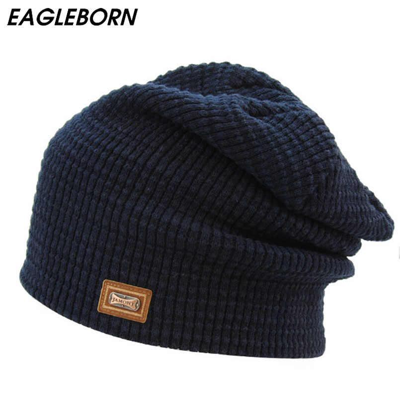 Neue Männliche Weibliche Skullies Mützen Herbst Winter Hut für Männer Wolle Cap Knit Marke Neue Hohe Qualität Knochen Logo Beanie hüte Unisex Kappe