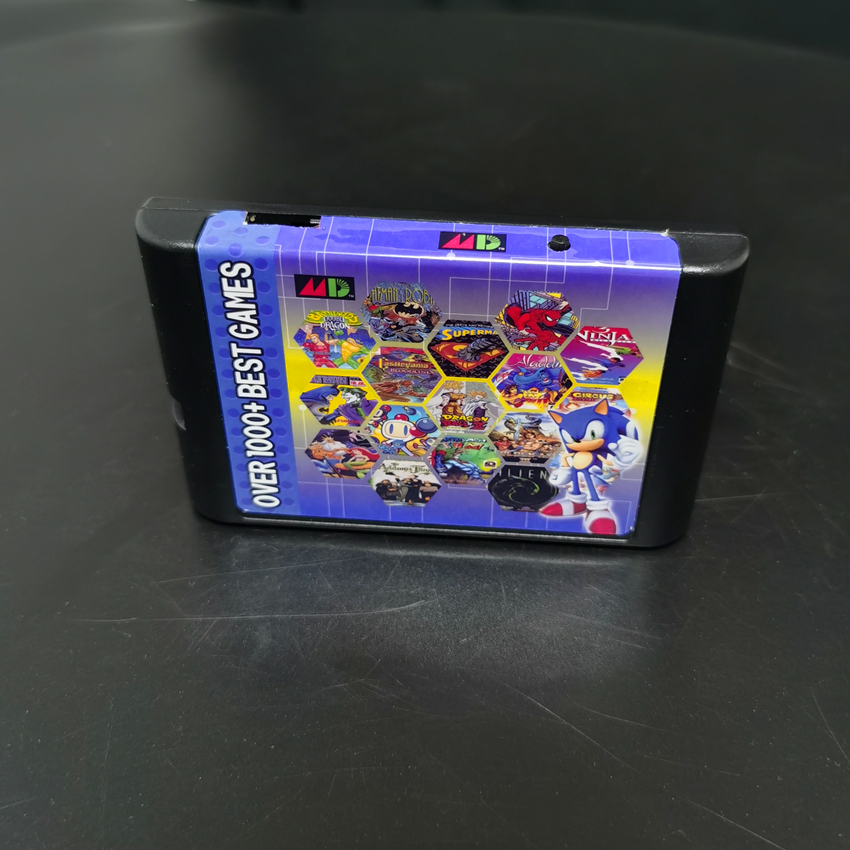 The Ultimate 1000 in 1 EDMD Remix MD Game Cartridge for USA/ Japanese /European SEGA GENESIS MegaDrive Console|Replacement Parts & Accessories|   - AliExpress