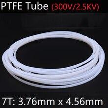 7T 3,76 мм x 4,56 мм PTFE трубка T eflon Изолированная жесткая капиллярная F4 труба высокая термостойкость шланг передачи 300 в белый