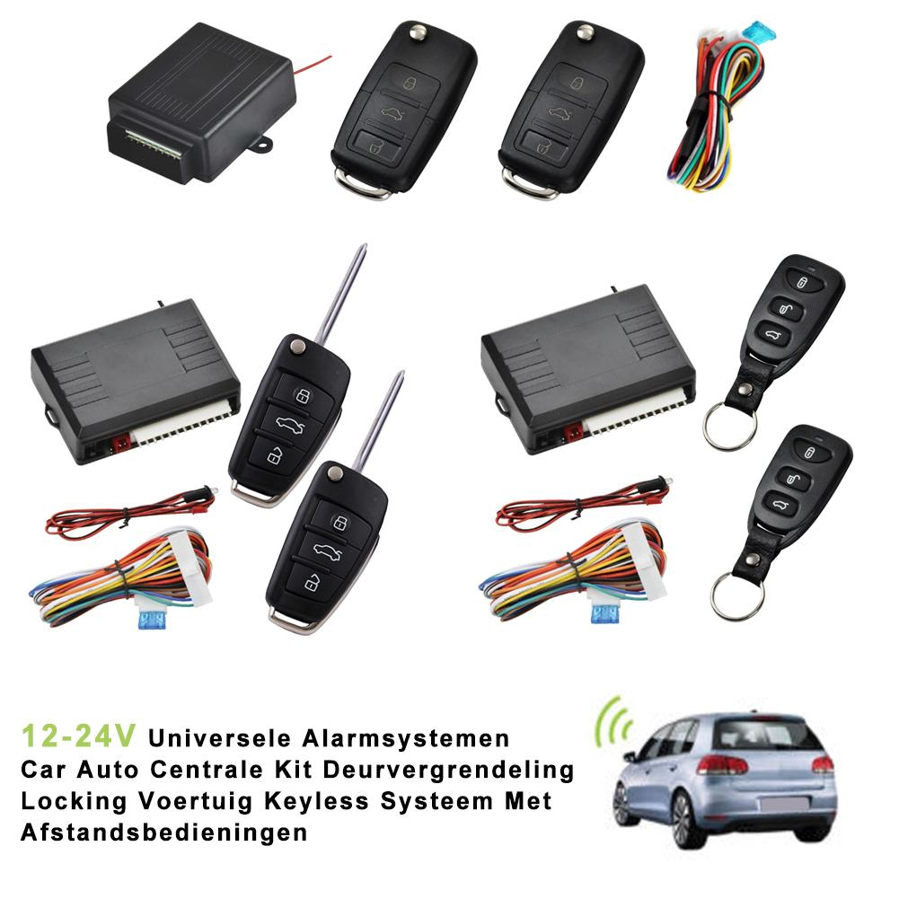 12-24V Universal Car Remote Central Door Lock Keyless Remote Control Car Alarm Systems Central Locking With Auto Remote Central