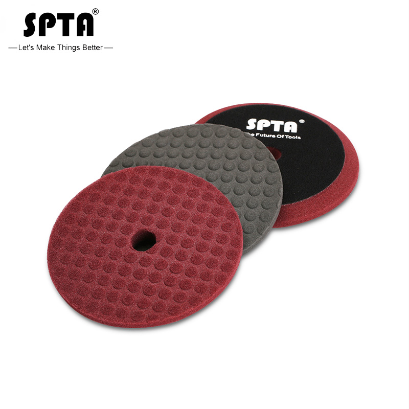 SPTA 6 Inch T Shaped Polishing Pads For 5 Inch Polisher Replaceable Sponge Buffing Pad Soft Polishing Foam Pads New