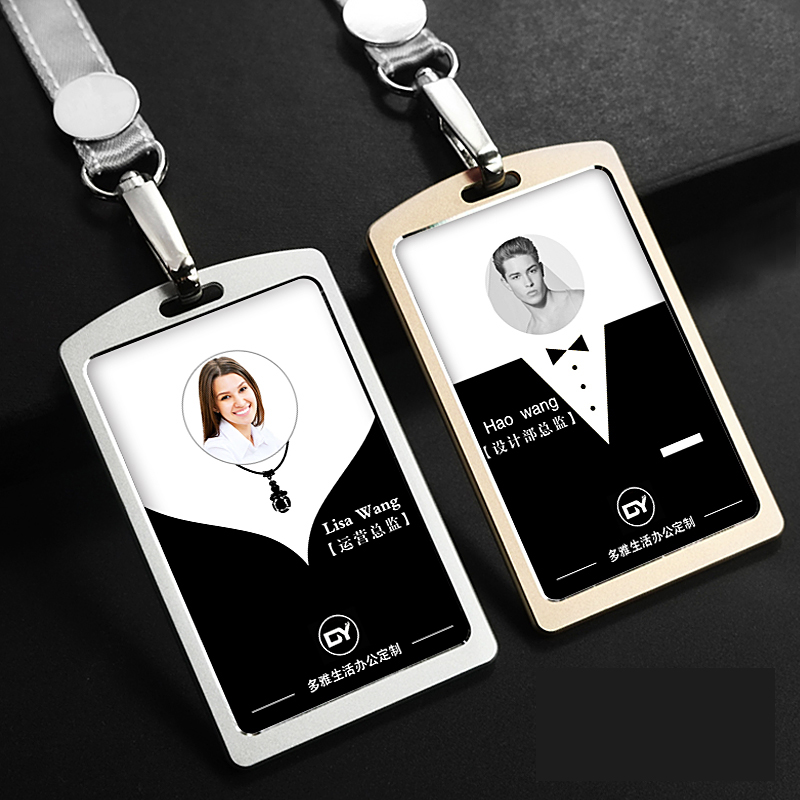 High Quality Metal Card Holder Employee Name ID Card Cover Metal Work Certificate Identity Badge ID Business Case