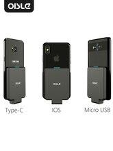 OISLE 미니 휴대용 외장 배터리 충전기 iPhone X 11 7 8 6s xs 12/Samsung S9/Huawei P30/xiaomi 9 용 배터리 케이스 보조베터리