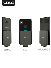 Oisle Mini Draagbare Externe Batterij Oplader Batterij Case Power Bank Voor Iphone X 11 7 8 6S Xs 12/Samsung S9/Huawei P30/Xiaomi 9