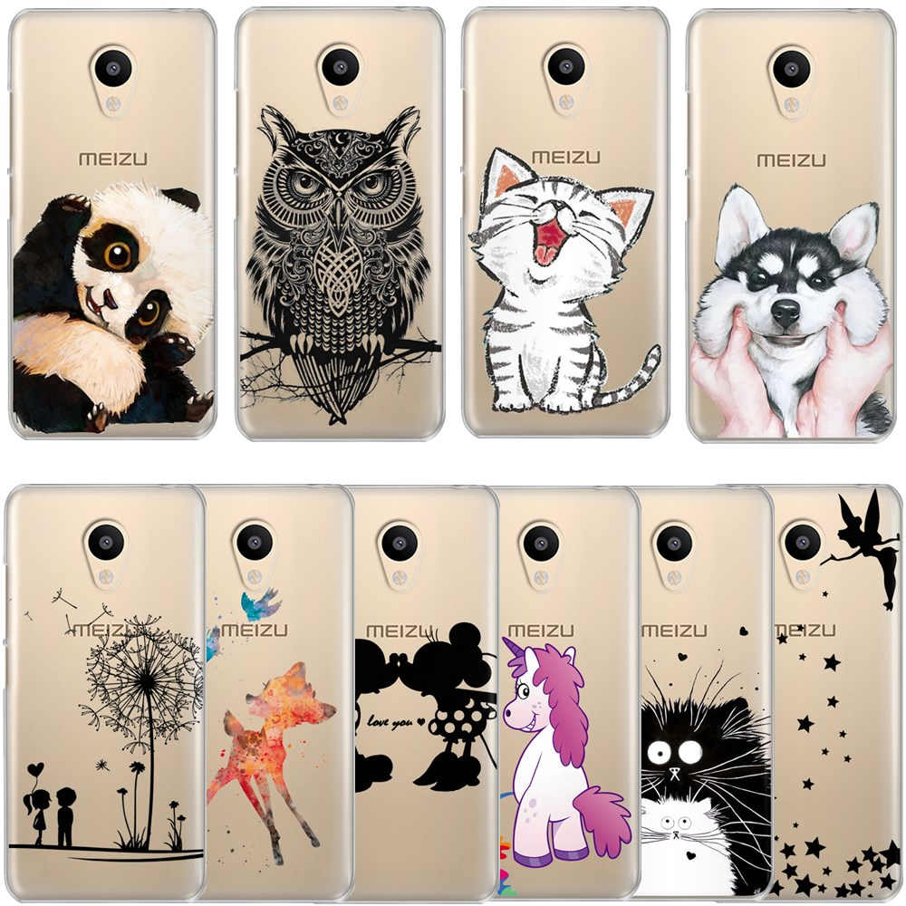 Phone Case For <font><b>Meizu</b></font> M6 M6S M5C M5 M5S <font><b>M3S</b></font> M3 Note Silicone Cute Cartoon Painted <font><b>Back</b></font> <font><b>Cover</b></font> For <font><b>Meizu</b></font> Pro 6 U10 U20 16th Case image