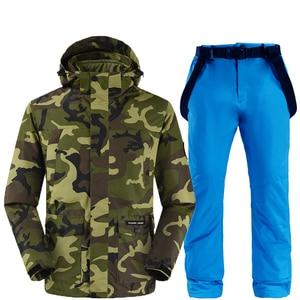Image 3 - Camouflage ski jacken und hosen frauen ski anzug snowboard kits sehr warme winddicht wasserdichte winter im freien kleidung