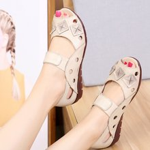 Сандалии женские из натуральной кожи удобная мягкая обувь на