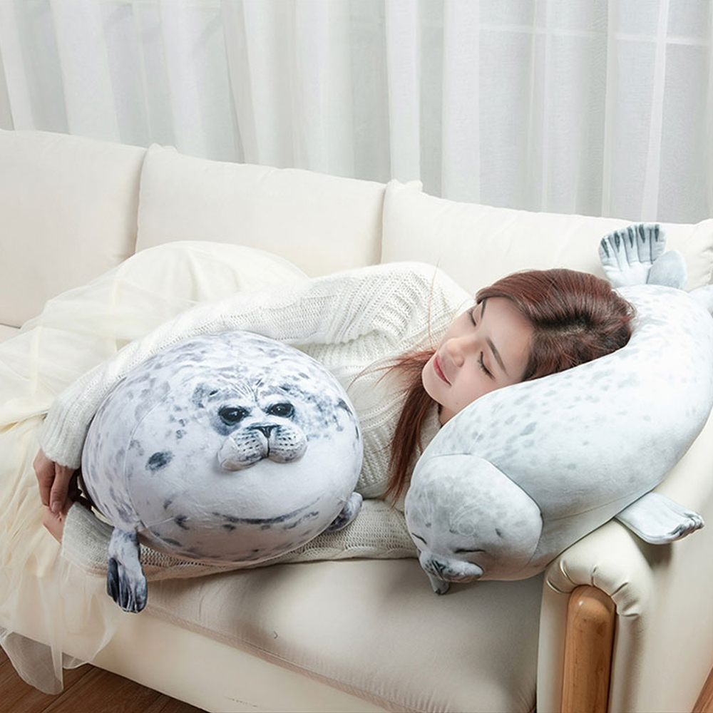 Permalink to Seal pillow 3D Cute Plush Novelty Throw Pillows Soft Seal Plush Stuffed Plush Housewarming Party stuffed animals plush toys