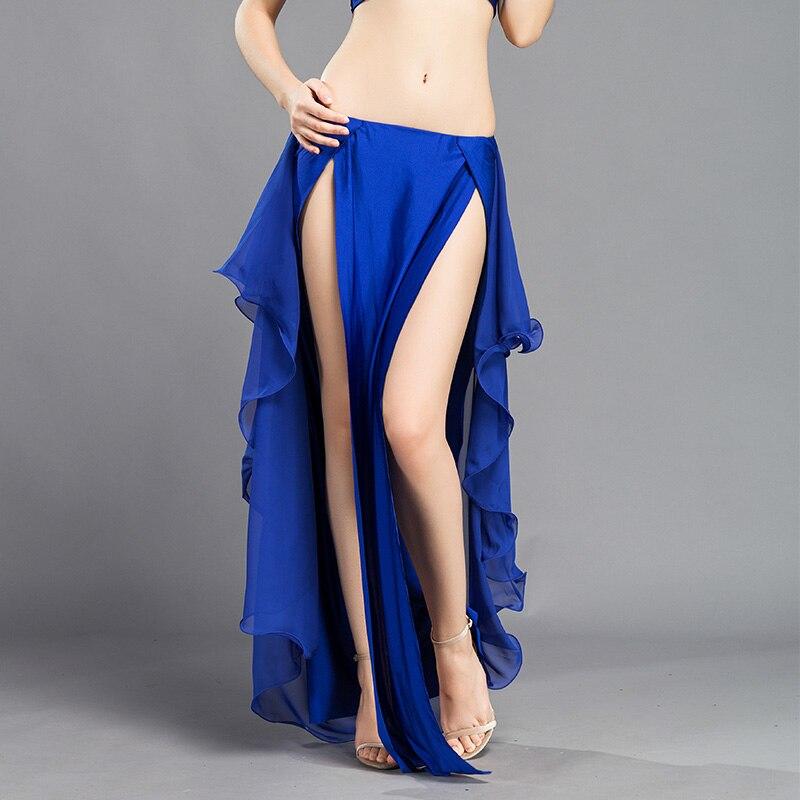Image 4 - New Performance belly dance Costume Waves Skirt Dress slit Skirt Dress Carnival Colour 6Belly Dancing   -