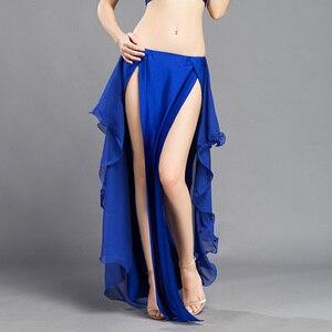 Image 4 - New Performance belly dance Costume Waves Skirt Dress slit Skirt Dress Carnival Colour 6