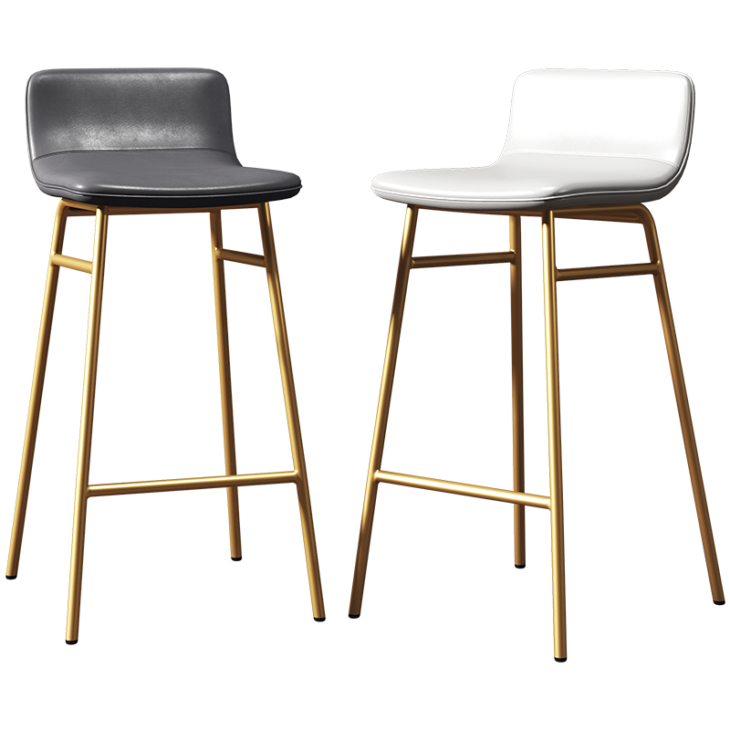Nordic Ins Net Red Bar Stool Simple High  Chair Home Iron Back Light Luxury
