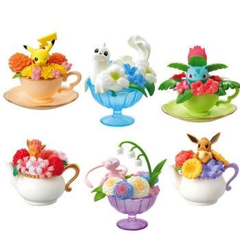 Takara Tomy Anime 6Pcs/Set Pokemon Pikachu Cute Charizard Bulbasaur Snorlax Eevee Action Figure Toys for Children