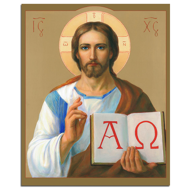Jesus Christ Alpha And Omega 5D DIY Diamond Painting Religion Full Square Embroidery Rhinestones Mosaic Decor Picture