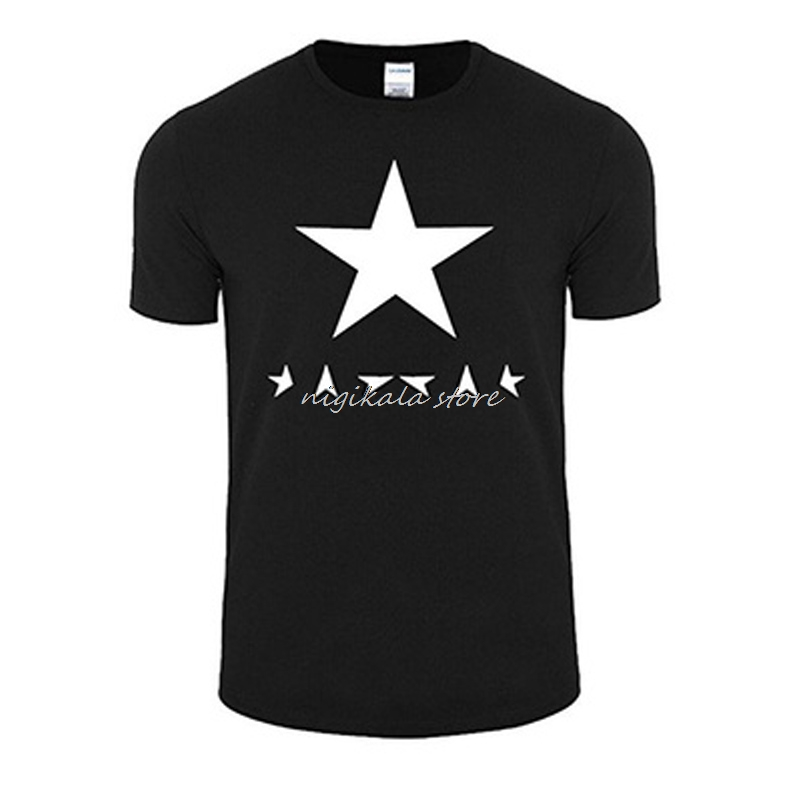 Men'S Short Sleeve Singer David Bowie Blackstar Song Fans New Fashion Funny Shirts Men Brand Male Tops Clothing Casmisetas image