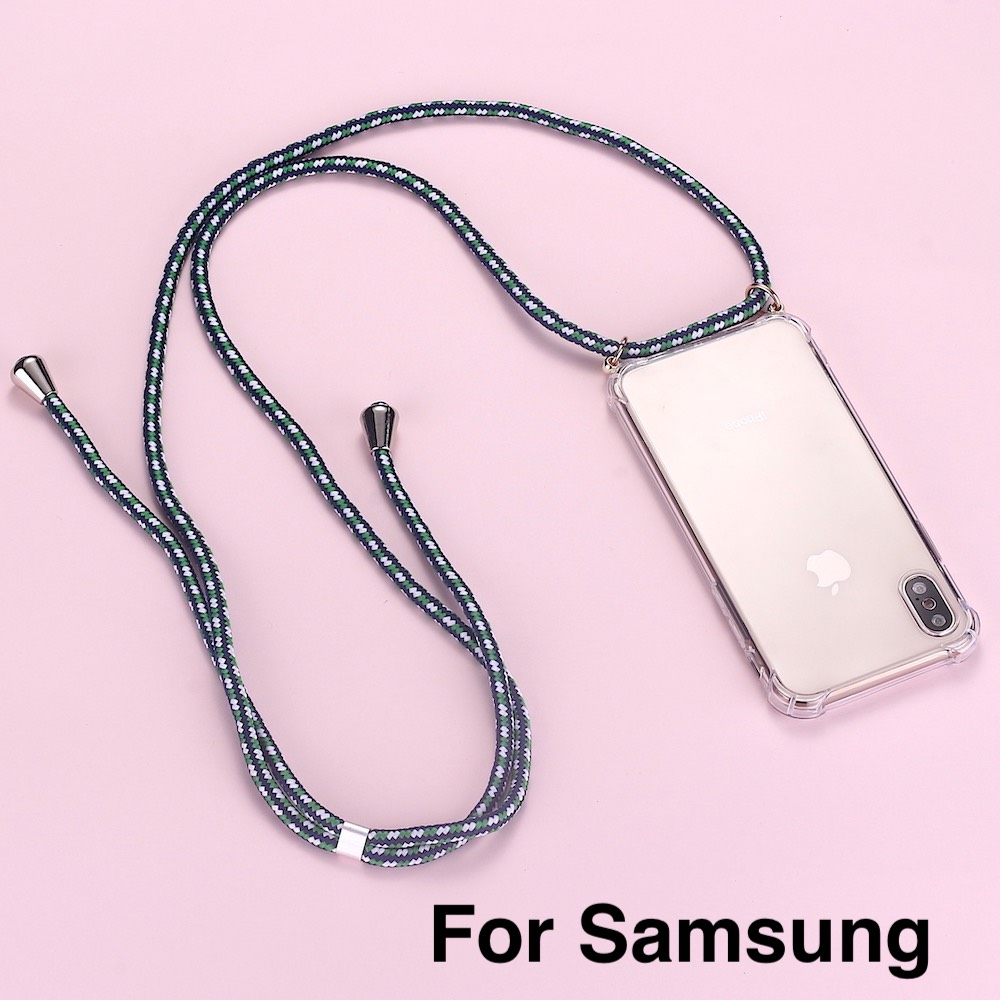 Strap Cord Chain Phone Tape Necklace Lanyard Mobile Phone Case For Carry To Hang For SAMSUNG S8 S9 S10 Note9  A50 A70 A7 A8 A9