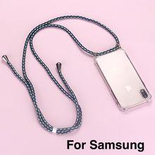 Correia do cabo corrente telefone fita colar cordão caso do telefone móvel para transportar para pendurar para samsung s8 s9 s10 note9 a50 a70 a7 a8 a9