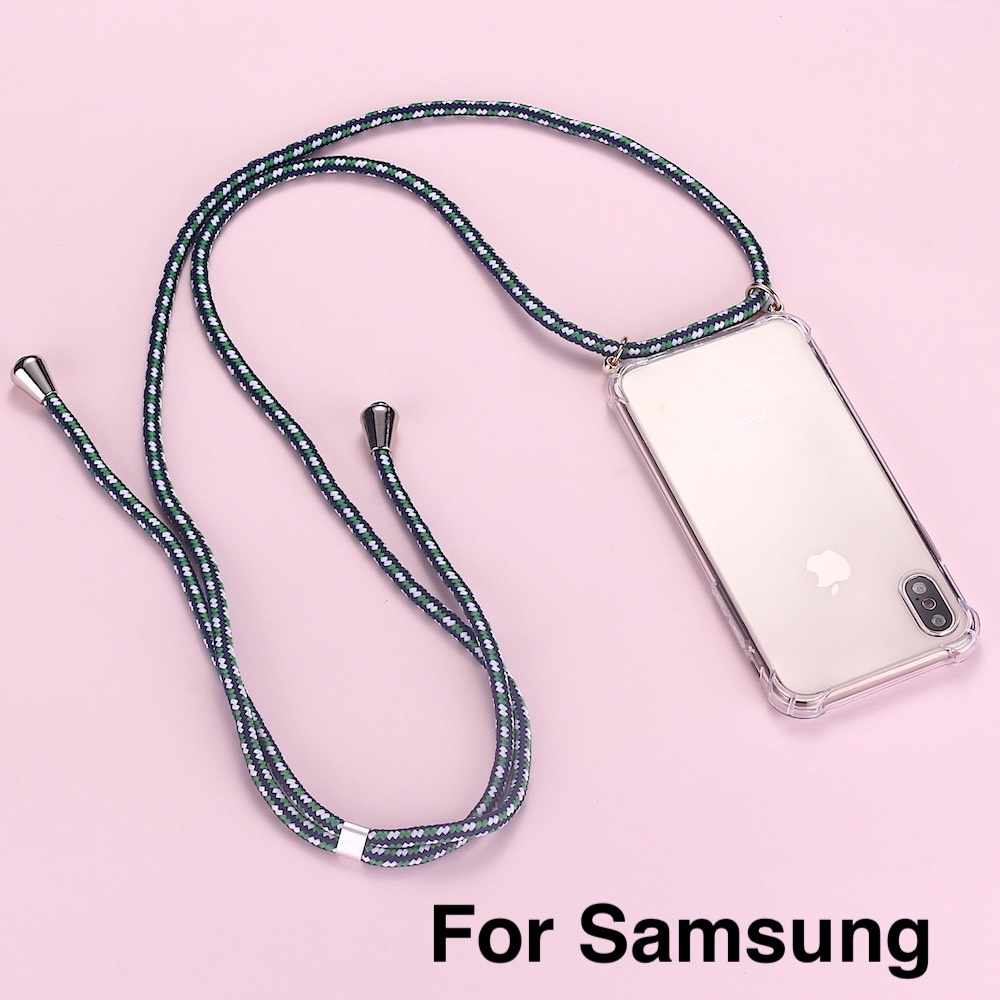 Strap Cord Chain Telefoon Tape Ketting Lanyard Mobiele Telefoon Case Voor Carry Te Hangen Voor Samsung S8 S9 S10 Note9 a50 A70 A7 A8 A9
