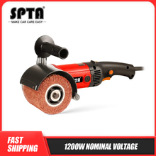 SPTA 220V 1200W Burnishing Machine Car Polisher Electric Sander Grinder Stainless Steel Sanding Polisher Metal Drawing Machine