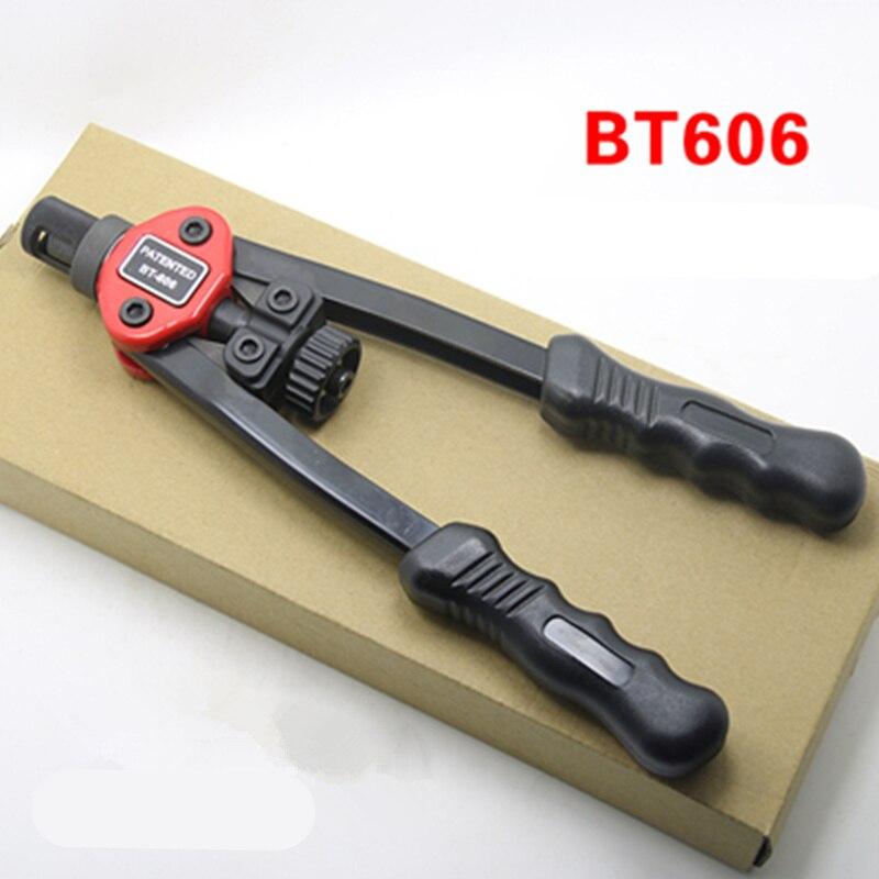 BT-605/BT-606 Gun Auto Rivet Tool Blind Rivet Nut Gun Heavy Hand INSER NUT Tool Manual Mandrels