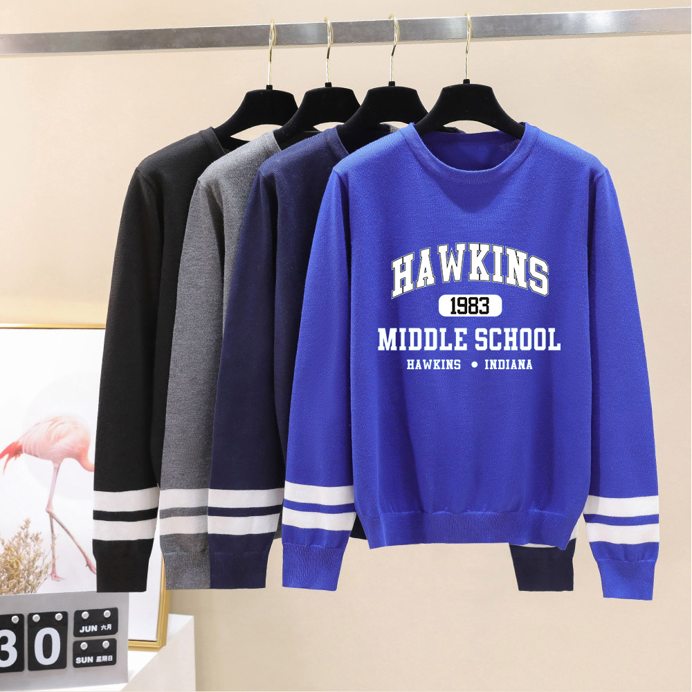 Stranger Things O-neck Sweater Men/women Fall/Winter Casual Hawkins Sweater Warm Fashion Harajuku Round Collar Casual Sweater