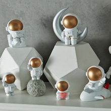 Nordic Style 3D Astronaut Figurines Home Decoration Crafts Moon Miniatures House Decor Planet Decorations for Kids Room Gifts