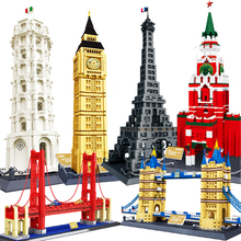 Wange World Great Architecture Large Building Blocks Set City London Paris New York Toys Brick Compatible taj mahal