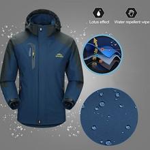 Мужская зимняя куртка с капюшоном из материала софтшелл, ветронепроницаемая Водонепроницаемая мягкая куртка