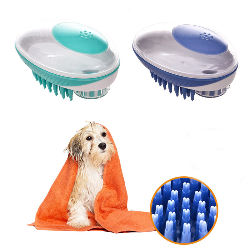 Pet Dog Bath Brush Comb Pet SPA Massage Brush Soft Silicone Dogs Cats Shower Hair Grooming Cmob Dog Cleaning Tool Pet Supplies