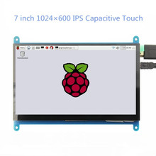 7-дюймовый емкостный сенсорный экран 1024*600 IPS TFT LCD модуль экран для Raspberry Pi 3 B +/4b