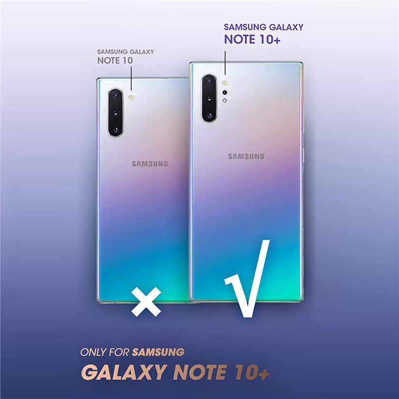 Dành cho Samsung Galaxy Samsung Galaxy Note 10 Plus (2019) tôi-Blason Cosmo Toàn Cơ Long Lanh Đá Cẩm Thạch Bao Ốp Lưng MÀ KHÔNG Tích Hợp Bảo Vệ Màn Hình