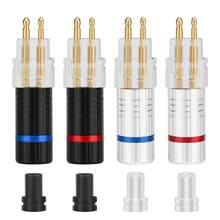 Connecteur de câble d'écouteur pour Sennheiser HD650 HD600 HD580 HD25 2 pièces