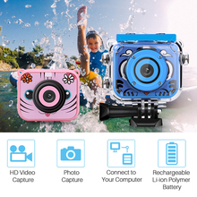 Kids Camera Digital-Video Lcd-Screen Waterproof Children 1080P Birthday-Gift