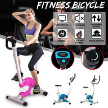 Indoor Cycle Exercise Stationary Bike with LCD Monitor Cardio Fitness Gym Cycling Machine Workout Training 100KG Max Weight