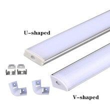 LED Aluminum-Channel Led-Strip u/V-Shape 5050 5630 for 3528 Milk-White-Cover/transparent-Cover