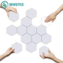 LED Hexagonal Lighting Geometry-Light Smart Creative Lamps Dimmable Touch DIY Modular